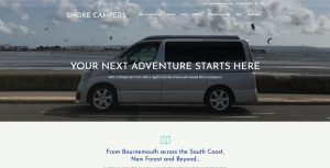 Shore Campers website screendump